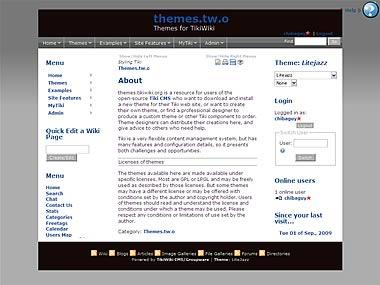 Implementation of a Drupal theme.